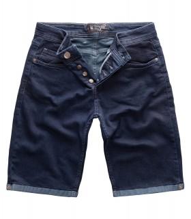 Gelverie Herren Jeansshorts Slim Fit Dunkelblau G-301