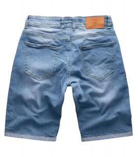 Gelverie Herren Jeansshorts Slim Fit Blau G-302