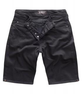 Gelverie Herren Jeansshorts Slim Fit Schwarz G-303