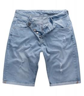 Gelverie Herren Jeansshorts Slim Fit Hellblau G-304