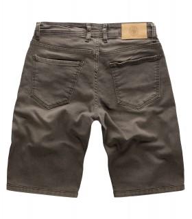 Gelverie Herren Jeansshorts Slim Fit Grau G-305