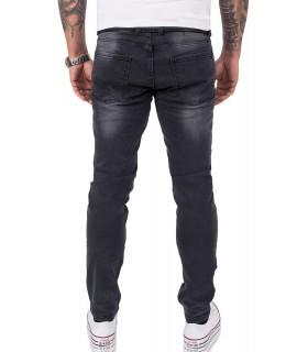 Gelverie Herren Jeans Slim Fit Dunkelgrau G-105
