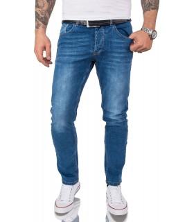 Gelverie Herren Jeans Slim Fit Blau G-104