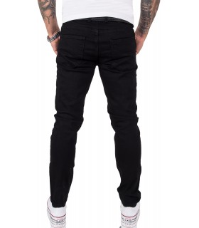 Gelverie Herren Jeans Slim Fit Schwarz G-103