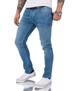 Gelverie Herren Jeans Slim Fit Hellblau G-101