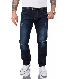 Rock Creek Herren Jeans Comfort Fit Dunkelblau RC-2066