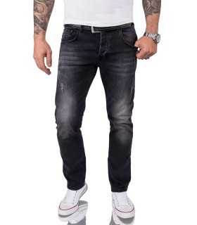 Rock Creek Herren Jeans Regular Fit Schwarz RC-2101