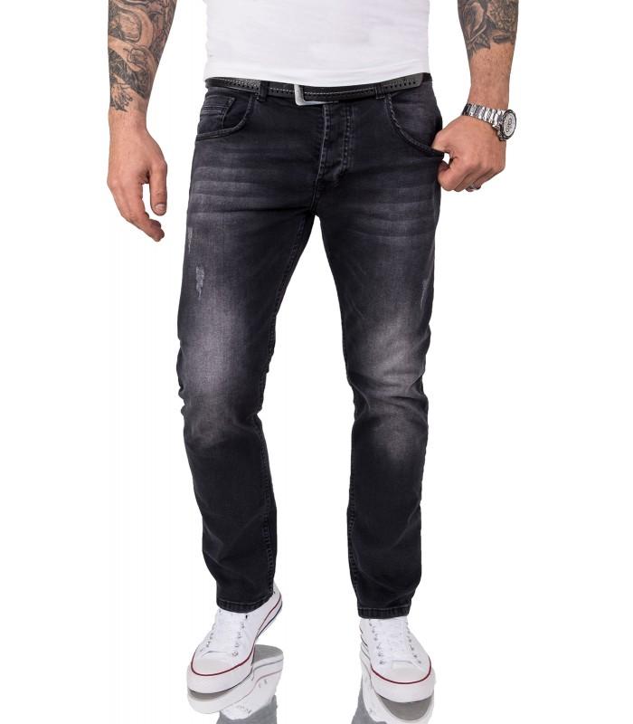 Rock Creek Herren Jeans Regular Fit Schwarz Stretch Jeans Männerhose RC-2157 NEU