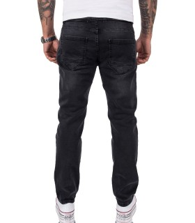 Rock Creek Herren Jeans Regular Fit Schwarz RC-2157