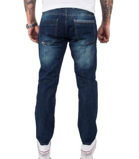 Lorenzo Loren Herren Jeans Comfort Fit Dunkelblau LL-386