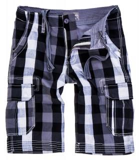 Herren Karoshorts Bermuda Hose Cago-Shorts Sommer Hose kurz Shorts H-158 S-XXL
