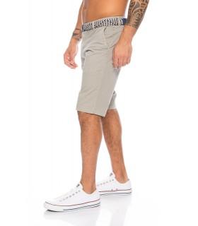 Designer Herren Chino Shorts inkl Gürtel Bermuda Hose Short Sommer Cargo