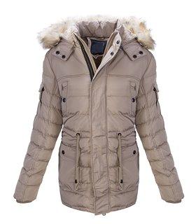 Herren Stepp Winter Jacke Parka Mantel Outdoor Jacken Warm Kunstfell H-164 NEU