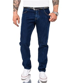 Rock Creek Herren Jeans Comfort Fit Dunkelblau RC-3100