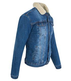 Herren Jeans Jacke mit Tedyfell-Kragen RC-2041