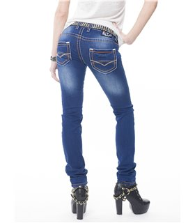 Rock Creek Damen Jeans Regular Fit Blau RC-2073