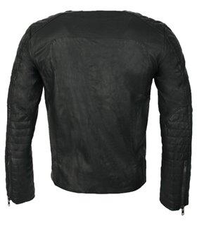 Herren Bikerjacke Leder Jacke Schwarz Herrenjacke Stepp Übergangsjacke