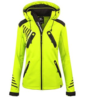 Rock Creek Damen Softshell Jacke Outdoorjacke Windbreaker Übergangs Jacke D-390