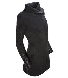 Damen Übergangsjacke Mantel gesteppte Ärmel D-125