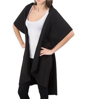 Damen Blogger Wasserfall Kragen Mantel D-150
