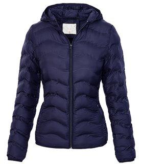 Damen Steppjacke Übergang Jacke mit Kapuze D-207