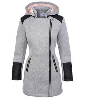 Designer damen mantel übergangsjacke mit Kapuze D-248