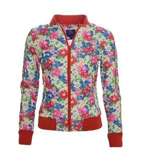 Damen Bomberjacke mit Blumen-Muster D-30