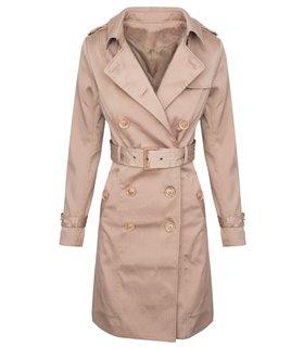 Damen Trenchcoat Mantel Vintage-Style D-312