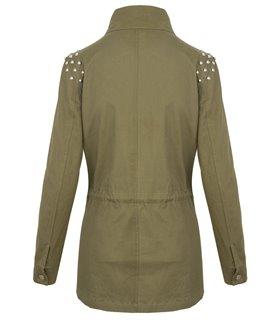 Damen Übergangsjacke Herbst Parka Fleece Sweatjacke Mantel