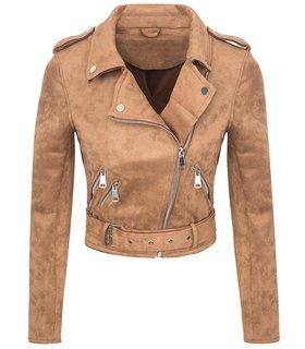 Designer Damen Übergangs Jacke Wildlederoptik Sommer Jacke kurz Jacke