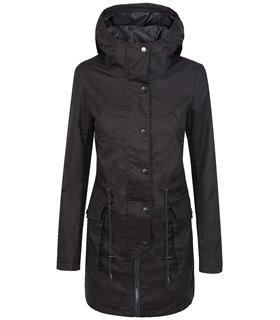 Damen Übergangsjacke Mantel Windbreaker Jacke Damenjacke Rosa Schwarz D-368