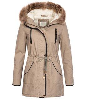 Designer Damen Winterjacke Mantel Parka Teddyfell Echtpelz D-375