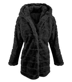 Damen Winter Jacke Teddy-Fleece D-406
