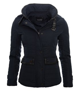 Damen Stepp Jacke Übergangsjacke Leicht Trenchcoat Stehkragen Herbst