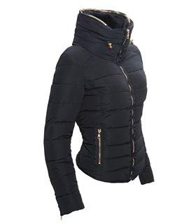 Designer Damen Jacke Winter Jacke Stepp Jacke warm gefüttert Fellkragen