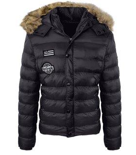 Herren Winter Jacke Steppjacke Outdoorjacke gefüttert warme Herrenjacke H-129