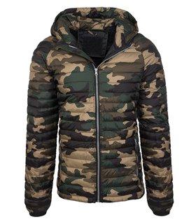 Herren Camouflage Steppjacke Übergangsjacke Stepp Jacke Herrenjacke Kapuze