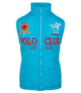 Schwarz HERREN Club Polo Club Weste Jacke Kapuze Hoodie