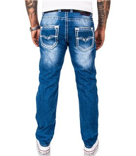 Rock Creek Herren Jeans Comfort Fit Blau RC-2268