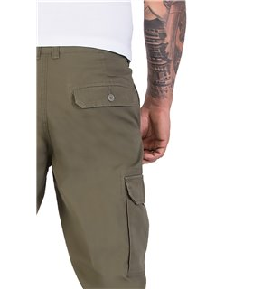Herren Cargo Hose Chinohose Herrenhose mit Seitentaschen H-194