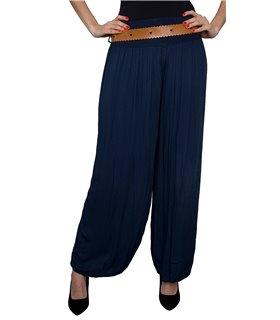 Damen Pump Hose Sommerhose One Size mit Gürtel D-173