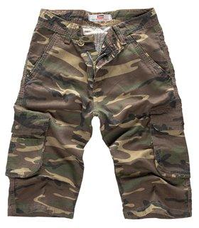 Lorenzo Loren Herren Cargoshorts Camouflage LL-391