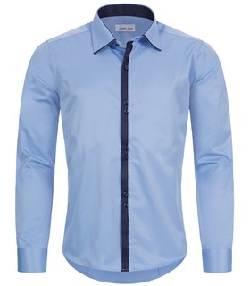 Herren Hemd Slim Fit Hemd Businesshemd Kentkragen Oxford