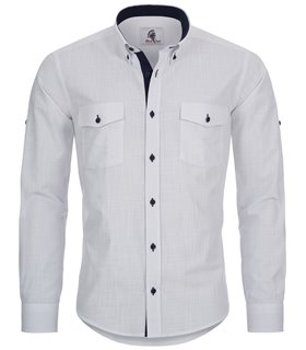 Herren Leinen-Optik Hemd Casual Hemd Freizeithemd Sommer