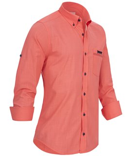 Herren Designer Leinen-Optik Hemd Langarmhemd Herrenhemd
