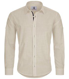 Designer Herren Leinen-Optik Hemd Casual Hemd Übergrößen