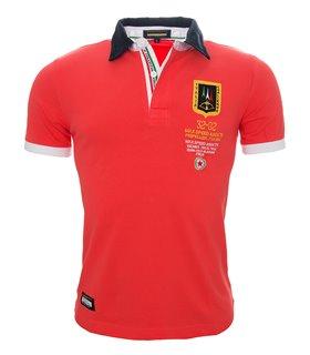 Herren Polo T-Shirt mit Logo Regular Fit H-035