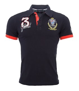 Herren Polo T-Shirt mit Logo Regular Fit H-038