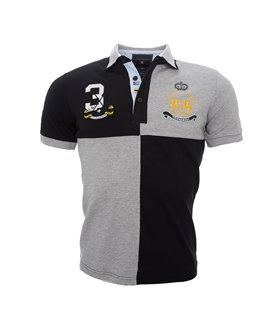 Herren Polo T-Shirt mit Logo Regular Fit H-043