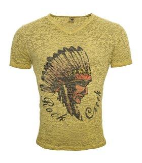 Herren Sommer T-Shirt kurzarm V Neck Ausschnitt Herrenhemd